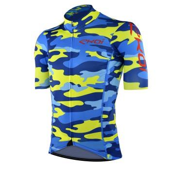 Maglia ciclismo EKOI CAMO Blue