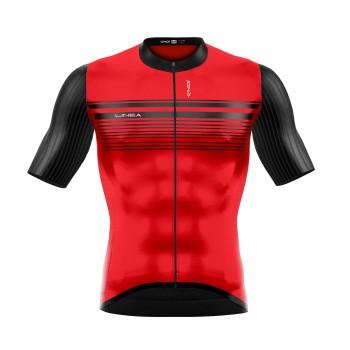 Koszulka kolarska EKOI LINEA Czerwona