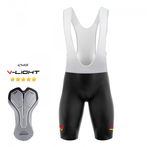 BIBSHORT EKOI LINEA yellow fluo