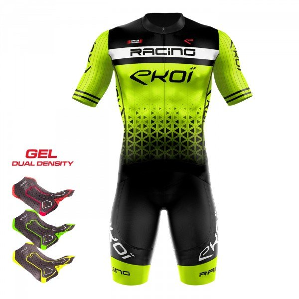 Tenue 3D GEL EKOI LTD RACING Jaune fluo