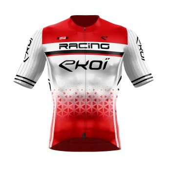 Maillot été EKOI LTD RACING Blanc Rouge