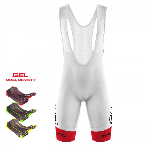 Cuissard 3D GEL EKOI LTD RACING Blanc Rouge
