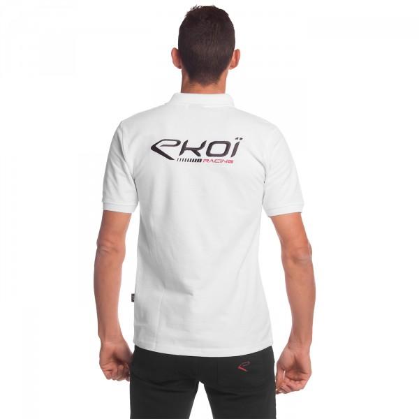 Polo EKOI RACING Blanc