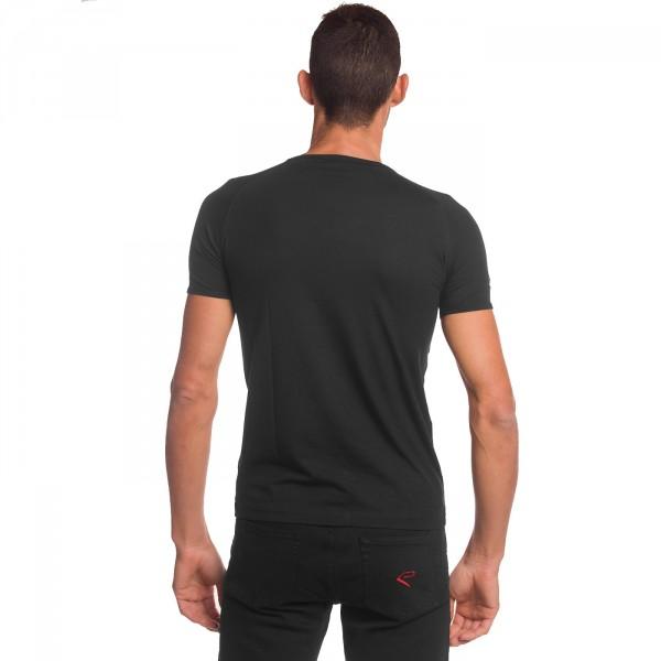 Tshirt EKOI Black Chrome