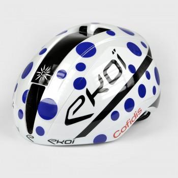 Helm EKOI AR15 Proteam COFIDIS Weiss Blau Gepunktet