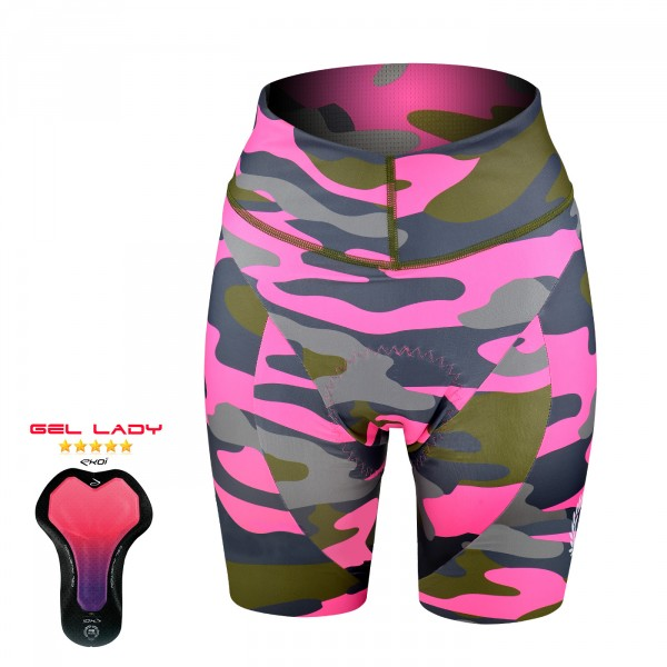 Ladies Bibshorts Gel EKOI JUST FOR HER KAMO PINK