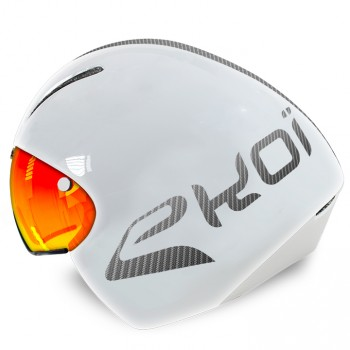 Casque TT2 MAGNETIC EKOI LTD Blanc Revo rouge