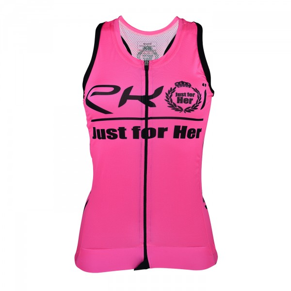 TANK TOP  EKOI LADY JUST FOR HER PINK/BLACK