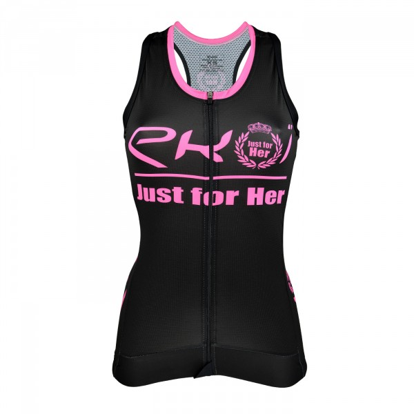 TANK TOP EKOI LADY JUST FOR HER BLACK/PINK
