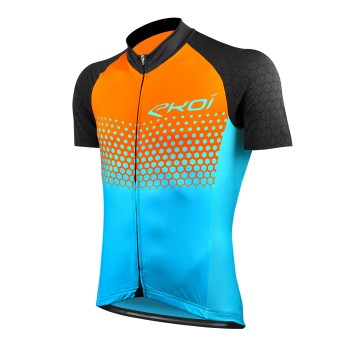 JERSEY EKOI MTB XC ORANGE BLUE CERAMIK SUMMIT