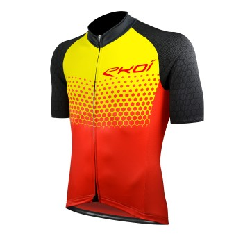 JERSEY EKOI MTB XC RED/YELLOW CERAMIC