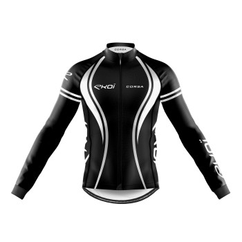 WINTER LONG SLEEVES  JERSEY EKOI CORSA BLACK/WHITE