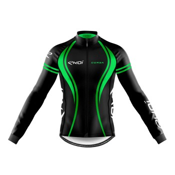 WINTER LONG SLEEVES  JERSEY EKOI CORSA GREEN