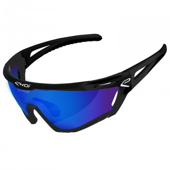 Glasses PERSOEVO9 EKOI LTD LIGHT Black mat Revo Blue