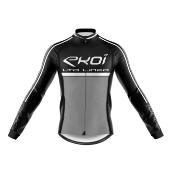 Winter Long Sleeves Jersey  EKOI LINEA LTD Black Grey