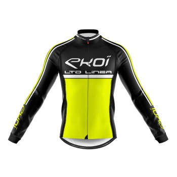 Winter Long Sleeves Jersey  EKOI LINEA LTD Neon Yellow