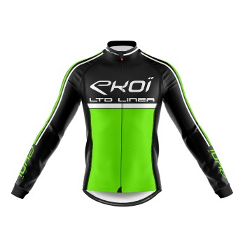 Winter Long Sleeves Jersey  EKOI LINEA LTD Neon Green