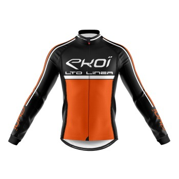 Winter Long Sleeves Jersey  EKOI LINEA LTD Neon Orange