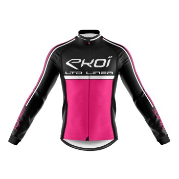 Winter Long Sleeves Jersey  EKOI LINEA LTD Neon Pink