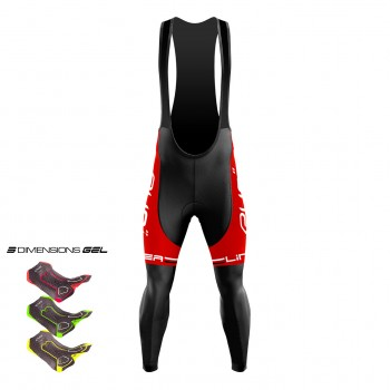 Fietsbroek 3D GEL EKOI LINEA LTD Rood