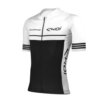 Cycling Jersey EKOI ENDURANCE White