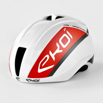 Casco EKOI AR15 LTD Blanco y rojo