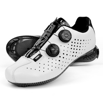 Road Cycling Shoes EKOI R4 EVO WHITE