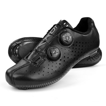 Road Cycling Shoes EKOI R4 EVO BLACK