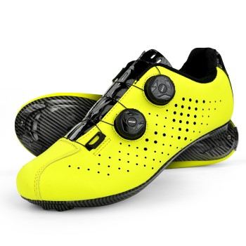 Road Cycling Shoes EKOI R4 EVO YELLOW