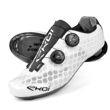 Chaussures route EKOI ULTRALIGHT Carbon BLANCHE