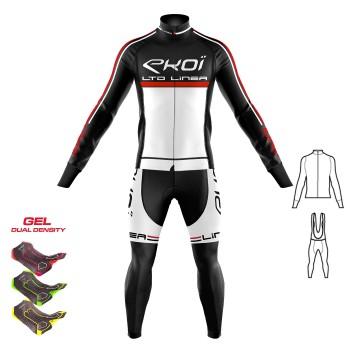Gear 2 pieces : Jacket+Bibtights Gel 3D EKOI LINEA LTD  White