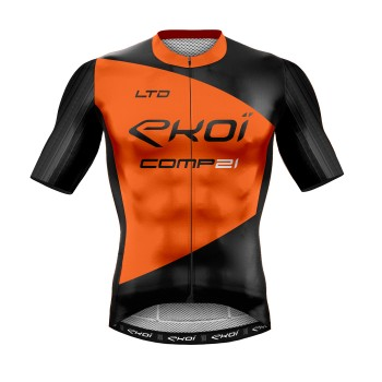 MAILLOT ETE EKOI COMP21 LTD NOIR ORANGE FLUO