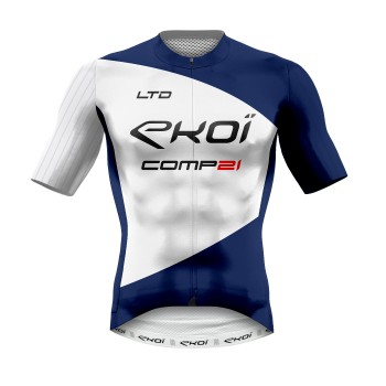 MAILLOT ETE EKOI COMP21 LTD BLEU France BLANC