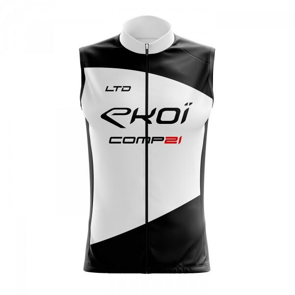 Gilet Coupe Vent EKOI COMP21 Noir Blanc