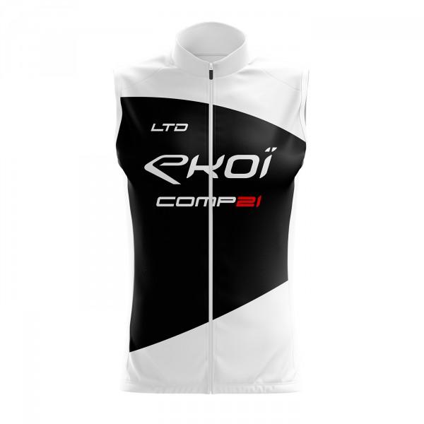 Gilet Coupe Vent EKOI COMP21 Blanc Noir