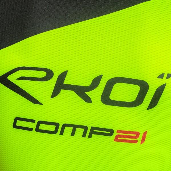 Combinaison été 3D GEL EKOI COMP21 Noir Jaune fluo