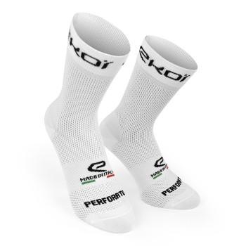 Letní ponožky EKOI Perforato Bílé