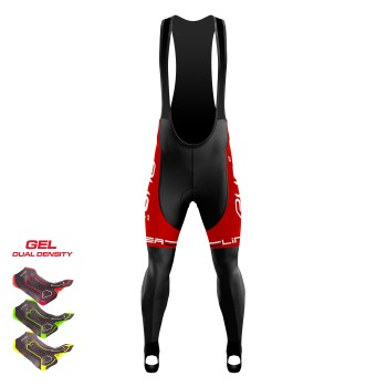 Winter Bibtights Gel 3D EKOI LINEA LTD Red  with FOOT STRAP