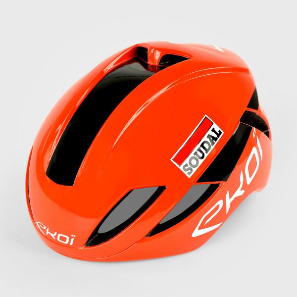Helmet EKOI AR14 Proteam LOTTO SOUDAL  Neon Orange