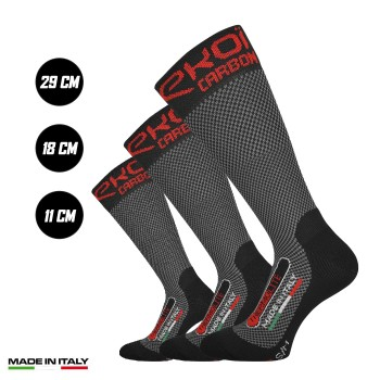 Pack 3 calcetines de invierno EKOI Thermolite CARBON FIBER 2