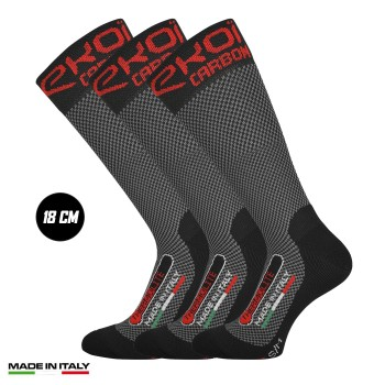 Pack 3 Winter Socks EKOI Thermolite 18cm CARBON FIBER 2