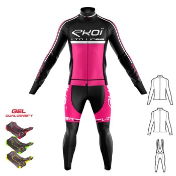 3dílný zimní outfit Gel 3D  EKOI LINEA LTD Neonově růžová