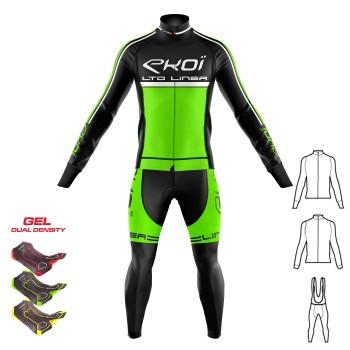 3dílný zimní outfit GEL 3D EKOI LINEA LTD Neonově zelená