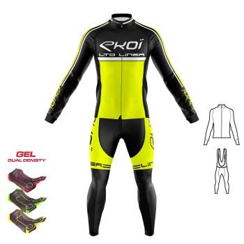 2dílný set dresu a kalhot s gelovou vložkou 3D EKOI LINEA LTD fluorescenční žlutá