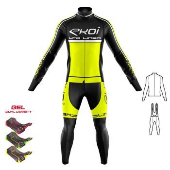 2dílný set bunda + Kalhoty s gelovou vložkou 3D EKOI LINEA LTD neonově-žlutá