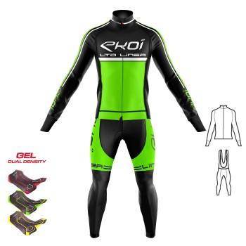 2dílný set bunda + Kalhoty s gelovou vložkou 3D EKOI LINEA LTD neonově-zelená