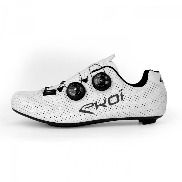 Chaussures route EKOI CARBON R5 blanc mat