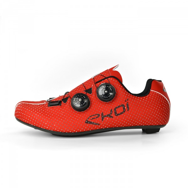 Chaussures route EKOI CARBON R5 rouge mat