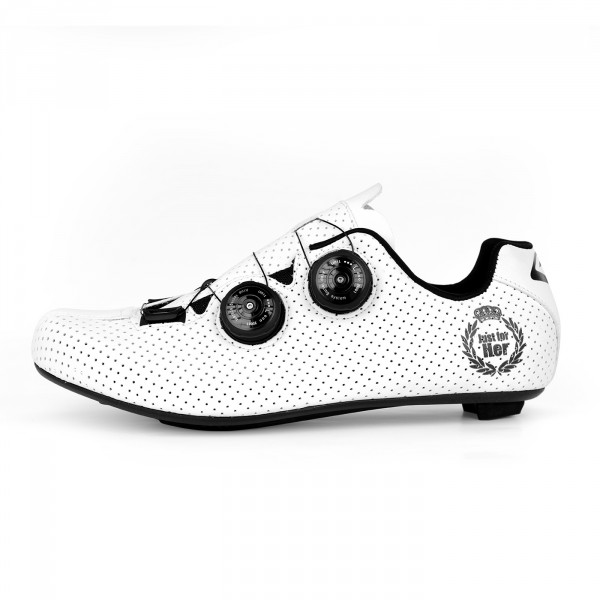 Chaussures route EKOI CARBON R5 Lady blanc mat