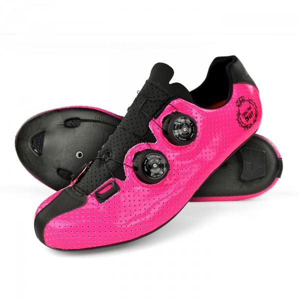 Chaussures route EKOI CARBON R5 Lady rose